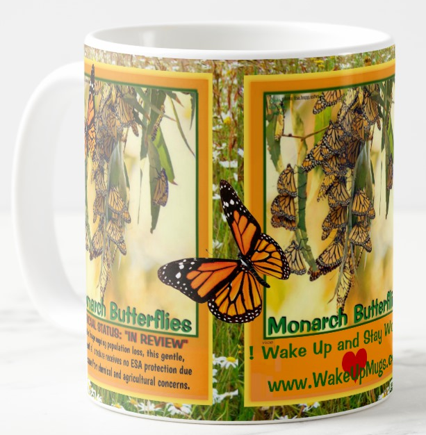 The Monarch Butterfly endangered coffee mug
